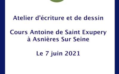 Retour sur la collecte de dessins et de textes Concours d'écriture et de dessin avec Le Petit Prince et la Fondation Antoine de Saint-Exupéry pour la Jeunesse au collège Antoine de Saint Exupery à Asnières-sur-Seine